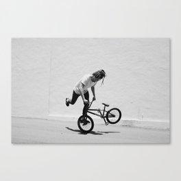 Flatland BMX Rider Canvas Print
