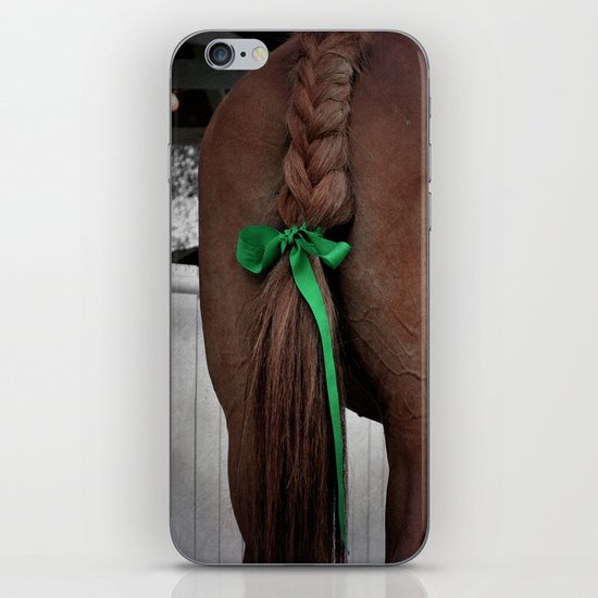Braided horse tail iPhone & iPod Skin