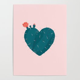 Cactus thorny heart Poster