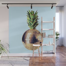 Ananas party (pineapple) blue version Wall Mural