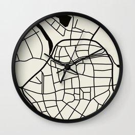 Wismar Karte Wall Clock