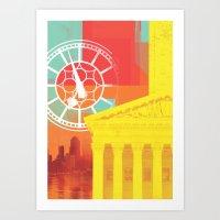 City Glitch / Brisbane 03 Art Print