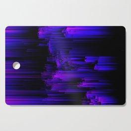 Ultraviolet Light Speed - Abstract Glitch Pixel Art Cutting Board
