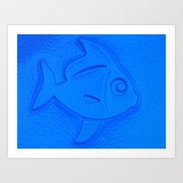 Blue Fishy Art Print
