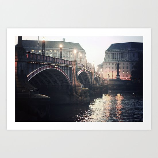 Evening Bridge Art Print