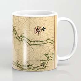 Map Of The Hudson River 1639 Coffee Mug