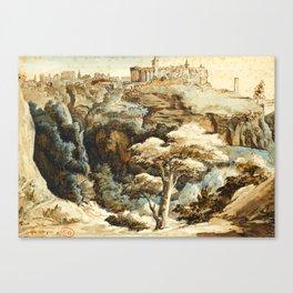 "Théodore Géricault ""View of Tivoli"" Canvas Print"