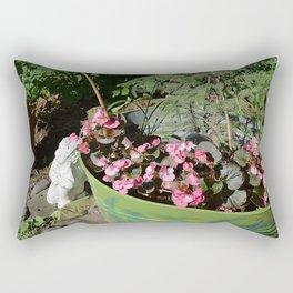 Sun kissed Garden Angel and Begonias Rectangular Pillow