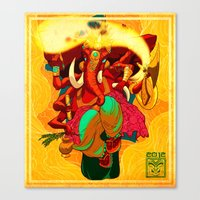 ganesh Canvas Prints featuring Ganesh by marekolani