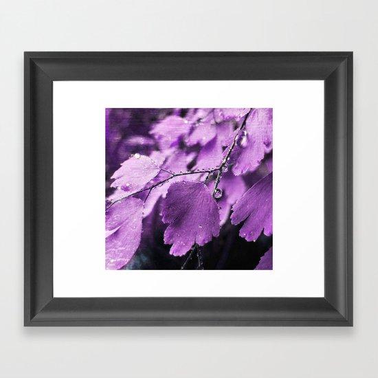 Lavender Fern Framed Art Print