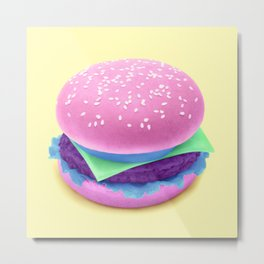 HAMBURGER Metal Print