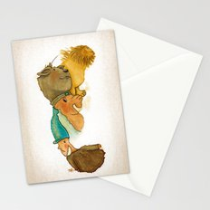 Illustrated coffee stains Stationery Cards