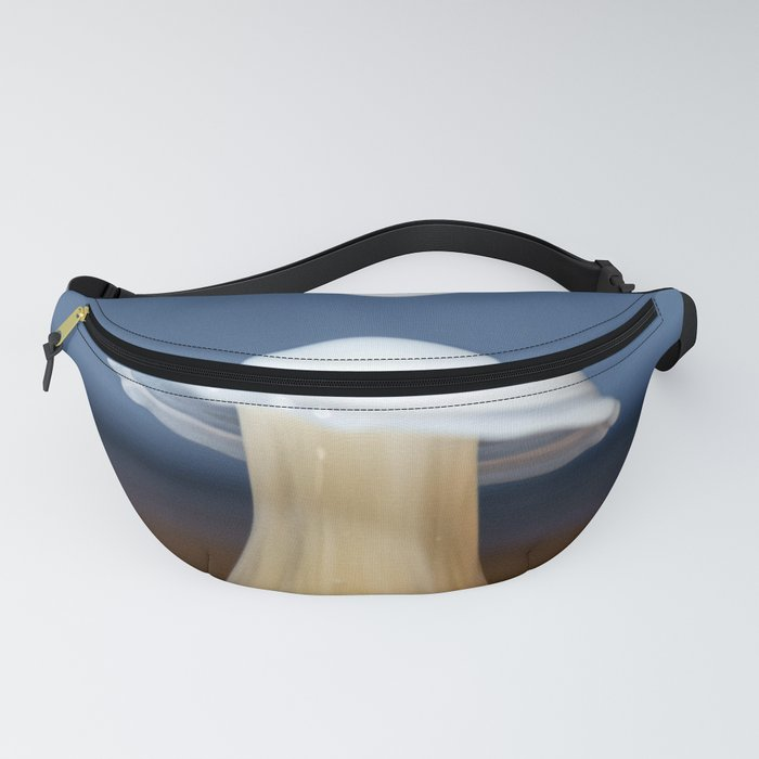 Drops of cream in coffee Fanny Pack