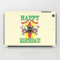 happy birthday iPad Cases featuring Happy Birthday! by BATKEI