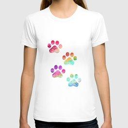 Paws print T-shirt