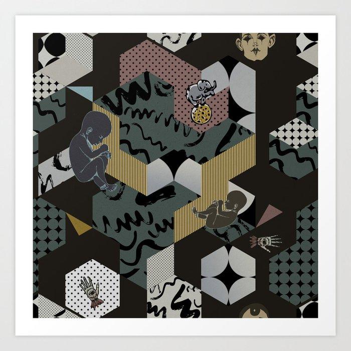Cosmic child | Chocolate version Art Print