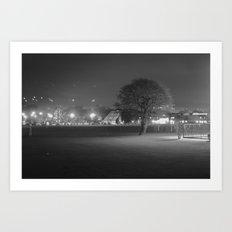 Field at Night Art Print