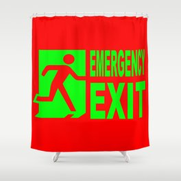 Emergency Exit Shower Curtain