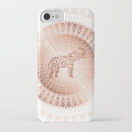 Rose Gold Elephant Mandala iPhone Case