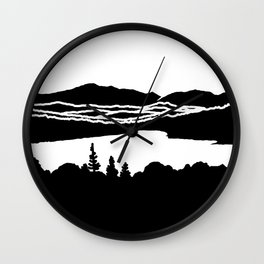 Lafayette and Franconia Notch from Shadow Lake Wall Clock