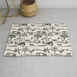 JUNGLE THRIVE BLACK Rug