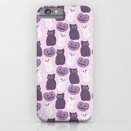 Halloween Marshmallows Soft Purple iPhone Case