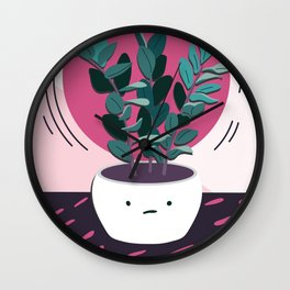 Mediocre Houseplant is Just Okay (大丈夫よ) Wall Clock