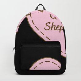 I Love German Shepherds Simple Heart Design Backpack