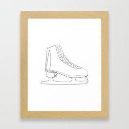 """Christmas Collection"" - Minimal Ice Skate Print Framed Art Print"