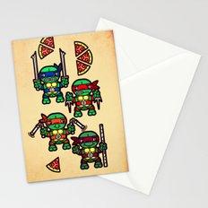 Teenage Mutant Ninja Turtles Pizza Party Stationery Cards