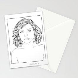 ANDY WARHOL POLAROIDS - DEBBIE-BLONDIE.  PORTRAIT    Stationery Cards