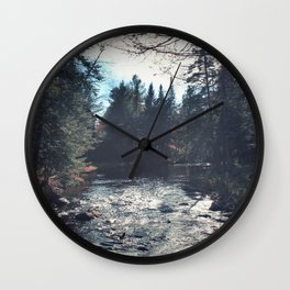 forest by the river Wall Clock