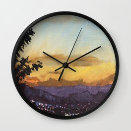 Sunset from Mill Mountain II Wall Clock