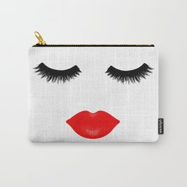 Lips and Lashes Carry-All Pouch