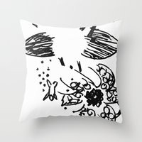 kraken Throw Pillows featuring Kraken by Probably Plaid