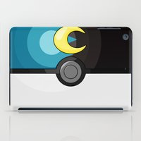 pokeball iPad Cases featuring Moon Pokeball by Amandazzling