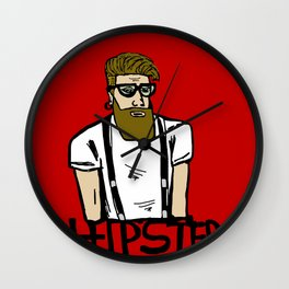 Hipster icon Wall Clock