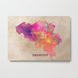 Belgium map Metal Print