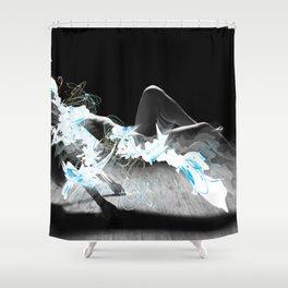 liquid lev Shower Curtain