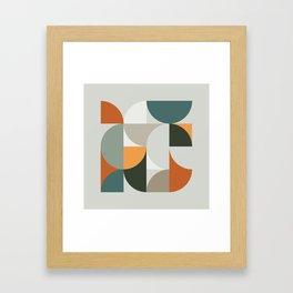 Mid Century Geometric 12 Gerahmter Kunstdruck