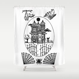 Ominous Victorian House Shower Curtain