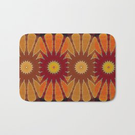 Orange flower pattern daisy Bath Mat