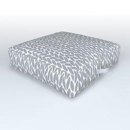 Hand Knit Light Grey Outdoor Floor Cushion