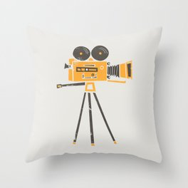 Cine Camera Throw Pillow