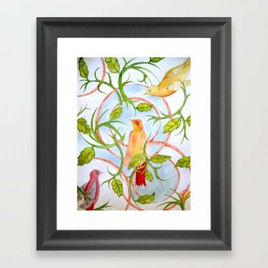 Water Color Bird Paper by clarekellyillustrator