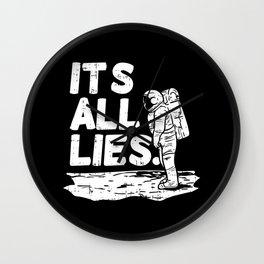 Moon Landing Conspiracy Theory Fake Illuminati Shirt & Gift Wall Clock