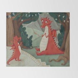 Concert of little Dragon Throw Blanket