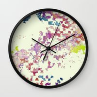 world maps Wall Clocks featuring Maps by MonsterBrown