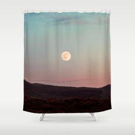Moon Over Grand Teton Shower Curtain