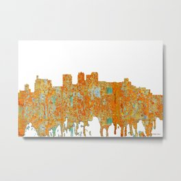 Birmingham, Alabama Skyline - Rust Metal Print